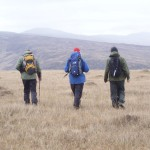Surveyors on upland blanket bog at Corraun, Co. Mayo, photo by Jenni Roche